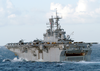 The Amphibious Assault Ship Bataan Steams Through The Mediterranean Sea As One Of Seven Ships Attached To Amphibious Task Force-east Image