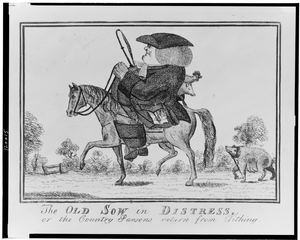 The Old Sow In Distress, Or The Country Parsons Return From Tithing Image