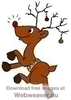 Animated Dancing Reindeer Clipart Image