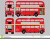 Red Double Decker Bus Clipart Image