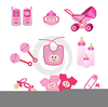 Free Pink Baby Feet Clipart Image
