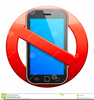 Free Clipart No Cell Phone Sign Image