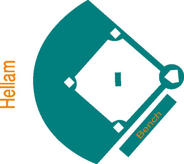 baseball field blue clip art at clkercom vector clip