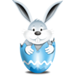 Bunny In Egg Blue Image
