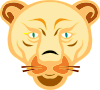 Lion Face Cartoon Clip Art