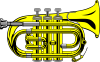Pocket Trumpet B Flat (colour) Clip Art