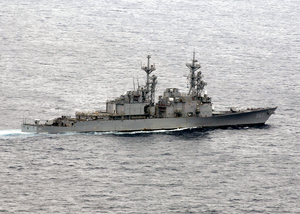 Uss Elliott (dd 967) Steams Off The Coast Of California Image