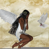 African American Angels Clipart Image