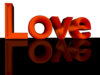 Text Love Orange Transparent Background Image