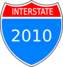 Interstate 2010 Clip Art