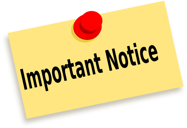 Image result for important notice image