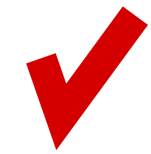 Red Tick Box : Red tick in white box clip art at clker vector