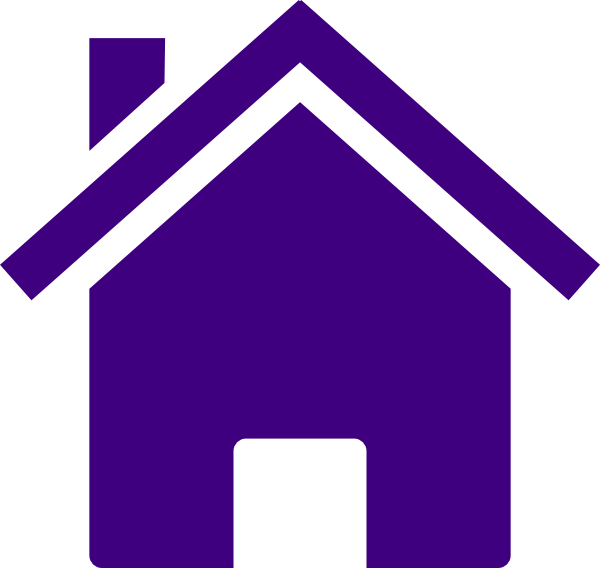 Simple purple house clip art at vector clip for Simple house image