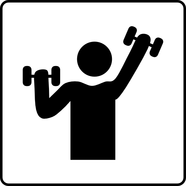 Hotel icon has gym clip art at clker vector