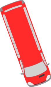 Red Bus - 290 Clip Art
