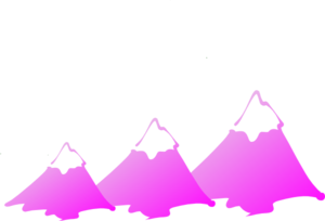 Three Mountain Peaks Purple Clip Art