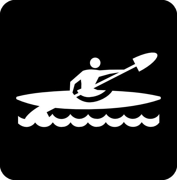 Kayak Paddle Clip Art Kayaking black clip art