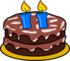Cake With 2 Candles Clip Art