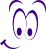 Smiley Eyes Purple Clip Art