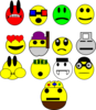 Faces Emoticons Clip Art