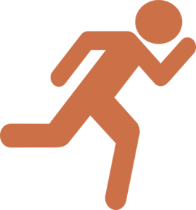 Runner-burnt-orange Clip Art