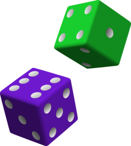 Green And Purple Dice Clip Art