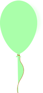 Baby Green Ballon Clip Art