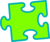 Green On Green Puzzle Piece Clip Art
