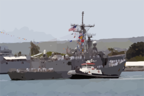 The Guided Missile Frigate Uss Reuben James (ffg 57) Returns To Her Homeport Pearl Harbor After A Deployment With The Uss Abraham Lincoln (cvn 72) Strike Force Spanning Nearly 10 Months Clip Art
