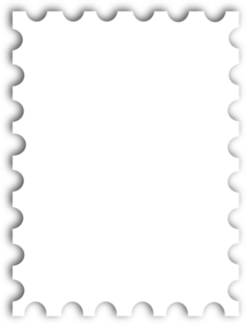 Blank Postage Stamp Template Kb Clip Art