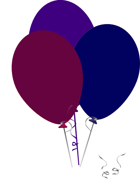 Purple And Blue Balloons Clip Art at Clker.com - vector ...