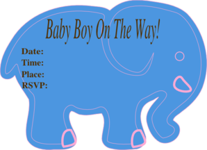 Jackys Baby Shower Invite Clip Art
