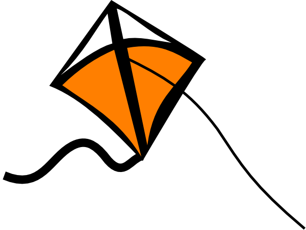 clipart kite flying - photo #46