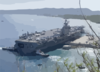 Uss Carl Vinson (cvn 70) Prepares To Moor At Kilo Wharf In Apra Harbor, Guam Clip Art