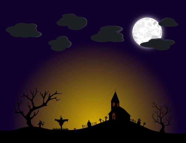halloween scene clipart - photo #1