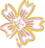 Gold Flower Clip Art
