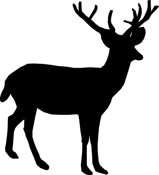 Deer Silhouette Clip Art at Clker.com - vector clip art ...