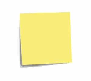 Post It Note Plain Clip Art