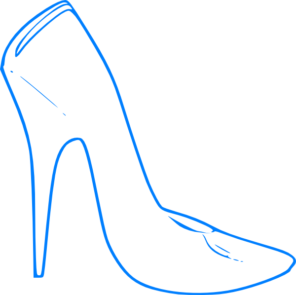 Blue High Heel Clip Art At Clker Com Vector Clip Art