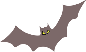 Wireframe Bat Clip Art