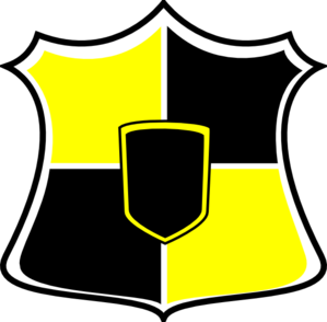 Black And Yellow Shield Clip Art