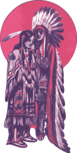 Native American Couple Clip Art