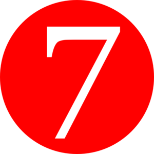 Red, Rounded,with Number 7 Clip Art at Clker.com - vector clip art ...