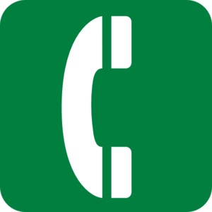 Green Emergency Phone Clip Art