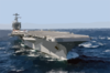 Uss John C. Stennis (cvn 74) Steams Off The Coast Of Southern California. Clip Art
