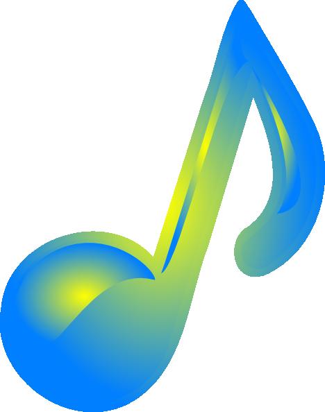 blue yellow music note clip art at clkercom vector clip