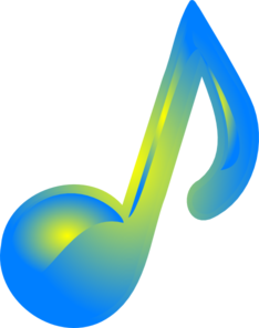 Blue Yellow Music Note Clip Art