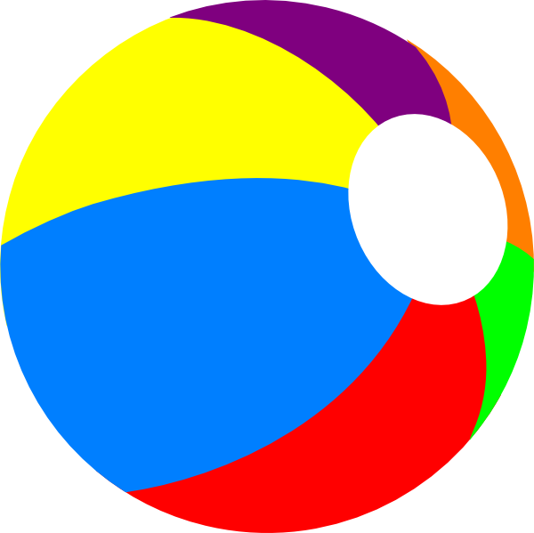 Beachball, Primary Clip Art at Clker.com - vector clip art ...
