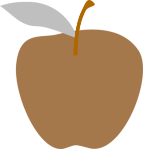 Brown Apple Clip Art