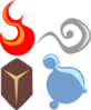 Symbolic Four Elements Clip Art